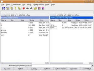 Linux Commander képernyőkép