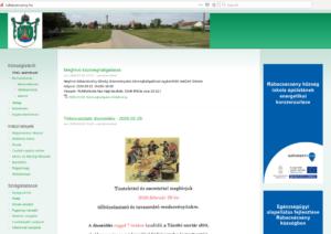 Képernyőmentés Rábacsécsény weboldaláról